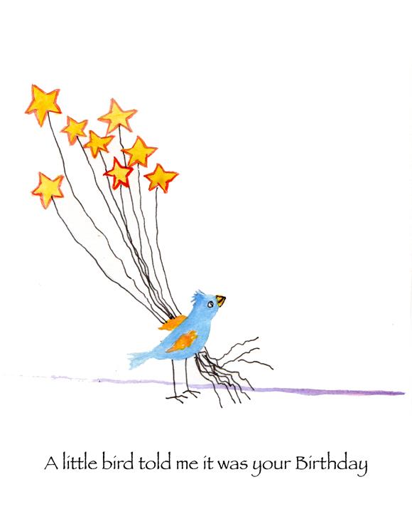 Susan Levine Art 187 Little Bird Birthday