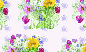 flower fabric design