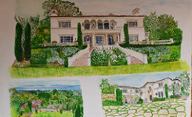 Home in Montecito with vignettes